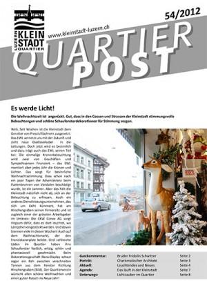 Quartierpost 54 / 2012
