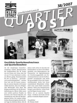 Quartierpost 38 / 2007