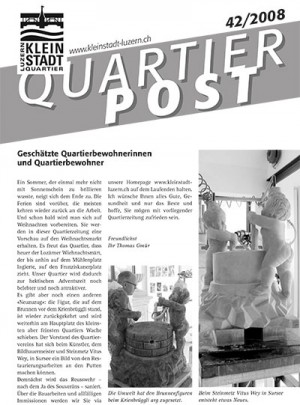Quartierpost 42 / 2008