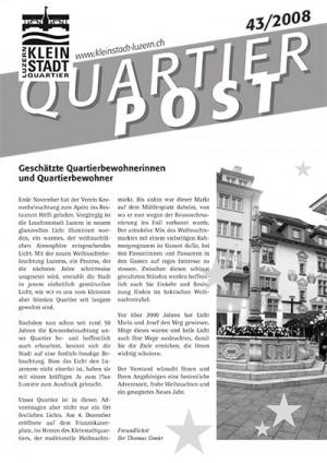 Quartierpost 43 / 2008