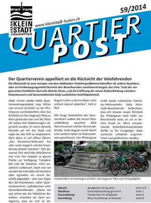 Quartierpost 59 / 2014